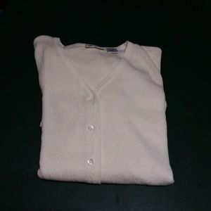 Light weight white button up sweater